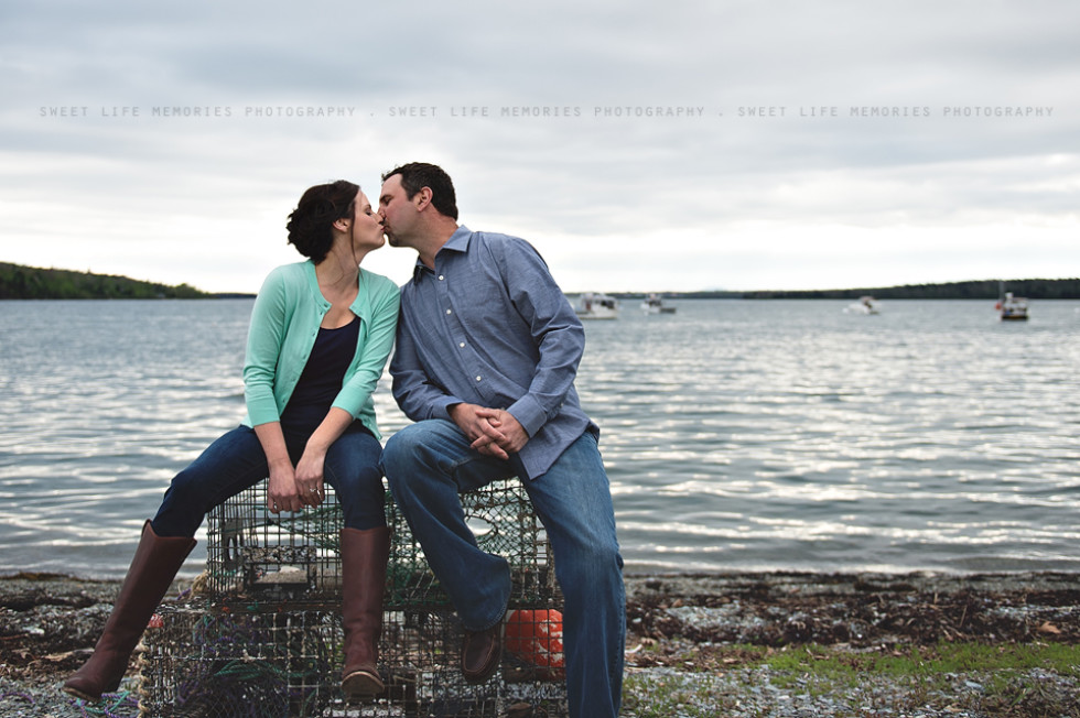 Maine Coast Engagement Session with Hillary & Rich