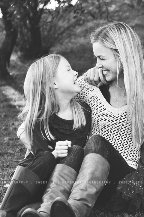 beautiful mother and daughter love