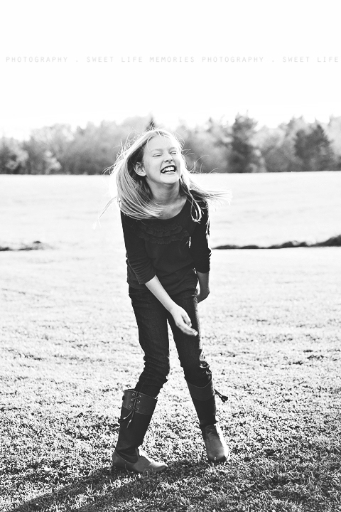 laughing joyful girl