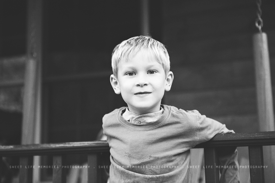 cute boy in black and white