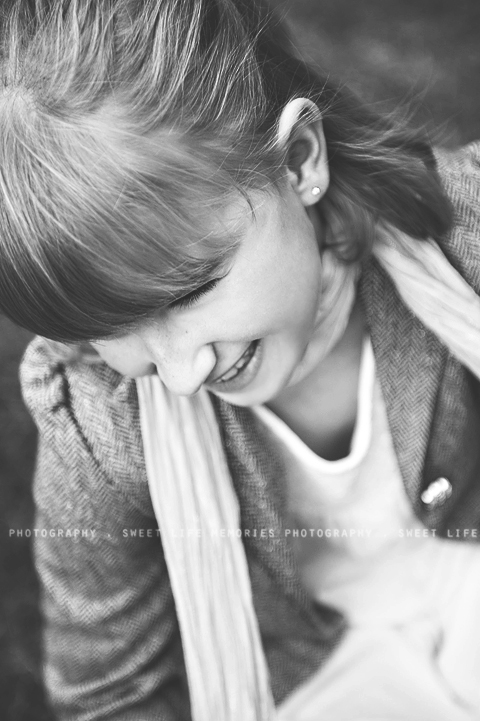 candid laughing girl