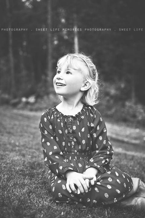 black and white profile portrait of a girl